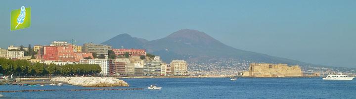 Napoli vesuvio e castel dell'ovo