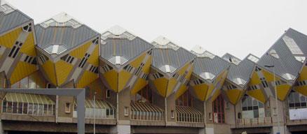 Rotterdam architettura contemporanea - le case cubo gialle